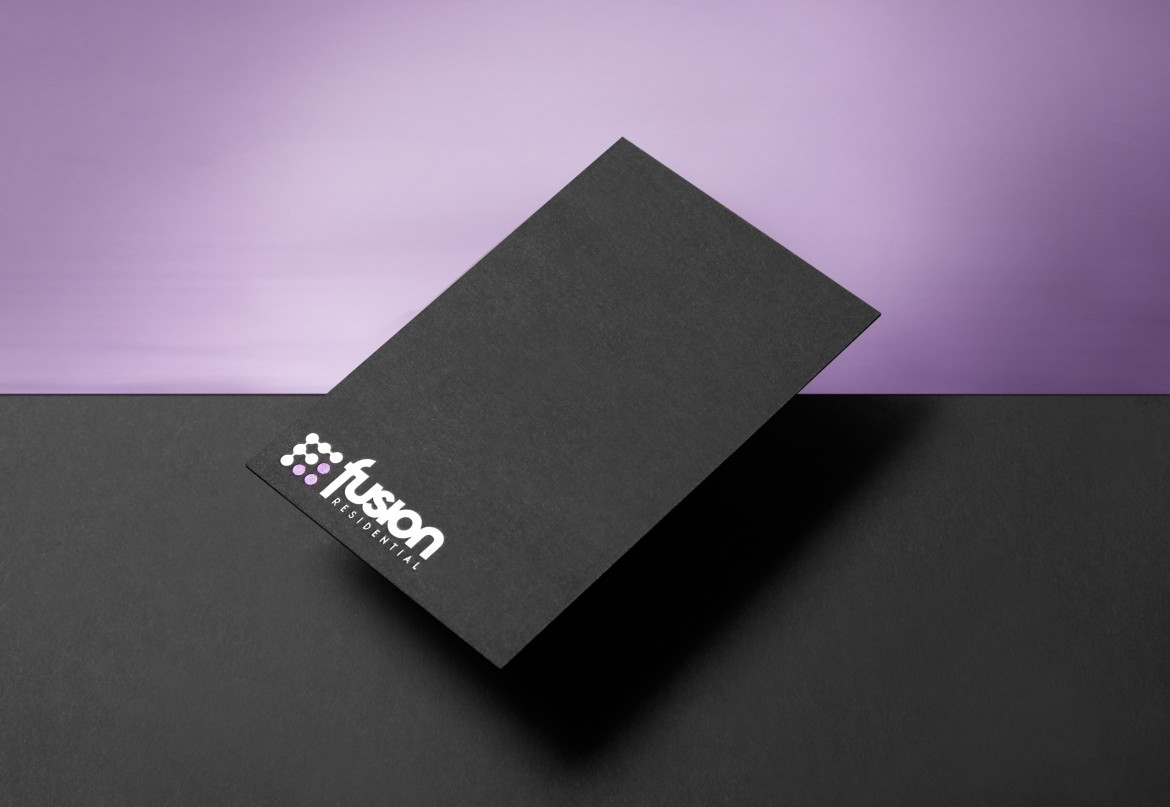 Fusion Residential Business Card on foil