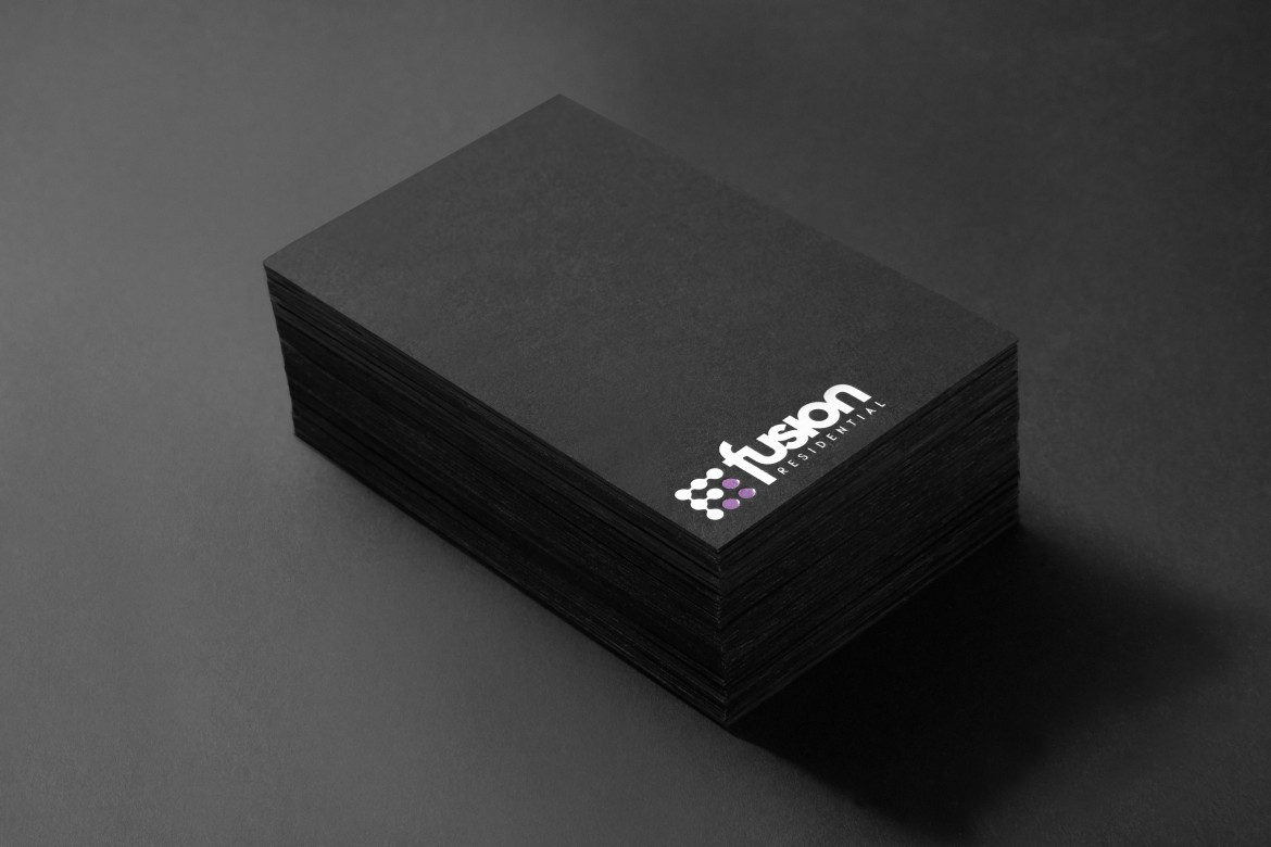 Fusion Residential Business Cards Stacked
