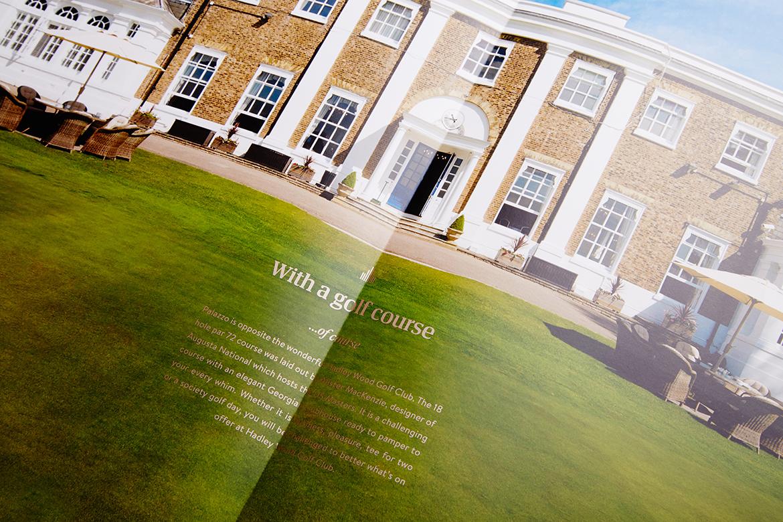 Golf spread brochure